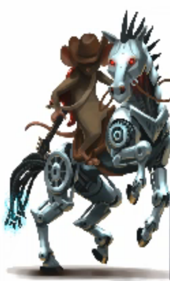 Final_cowboy with robot horse