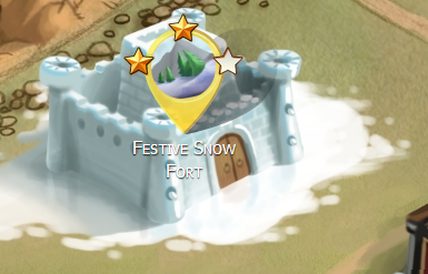 Festive Snow Fort